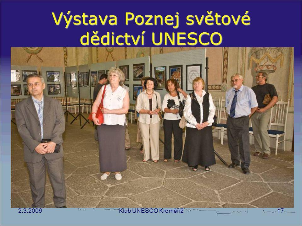 2.3.2009Klub UNESCO Kroměříž17 Výstava Poznej světové dědictví UNESCO