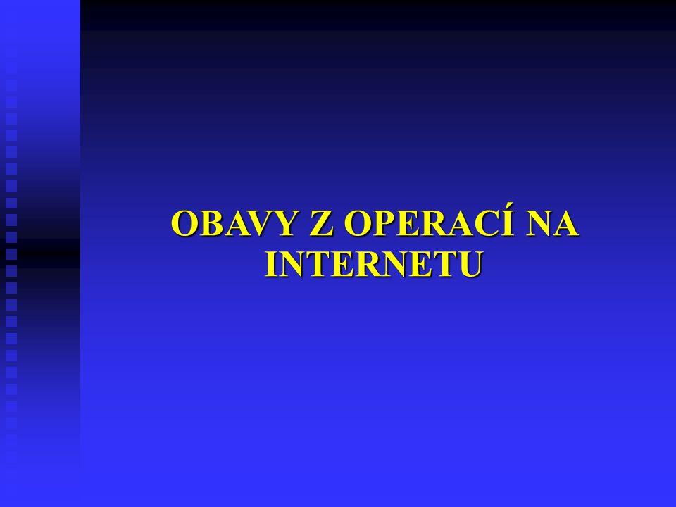 OBAVY Z OPERACÍ NA INTERNETU