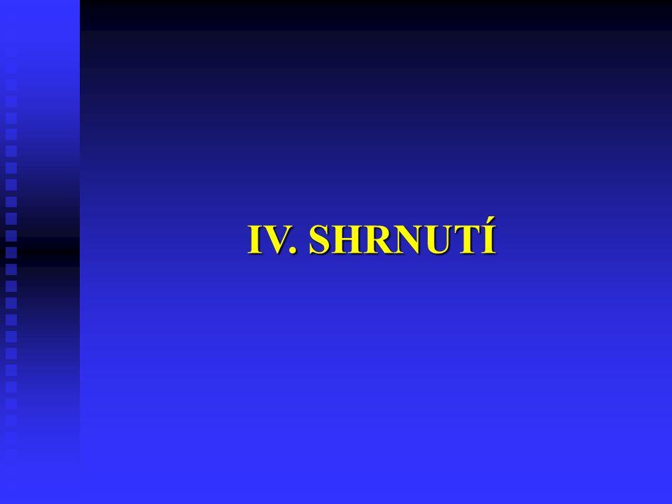 IV. SHRNUTÍ