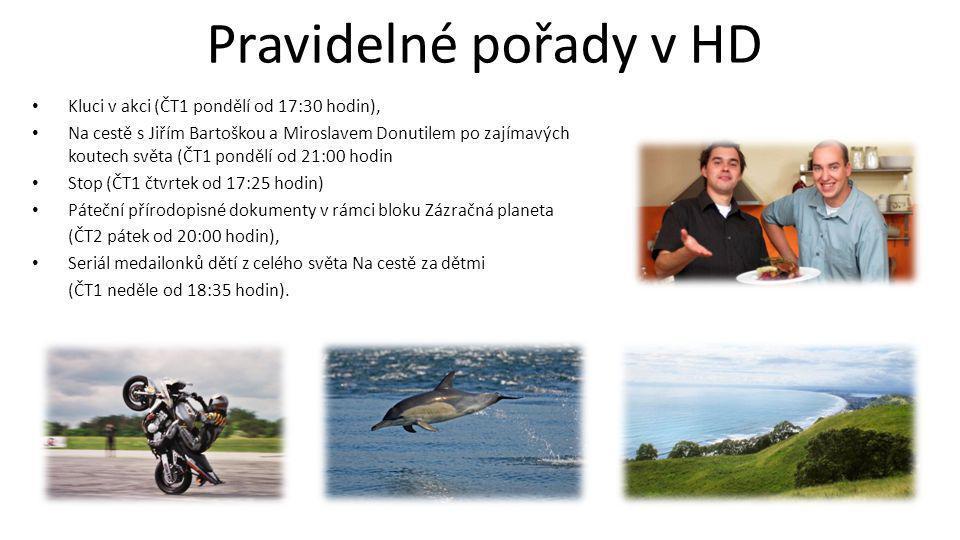 Jednotlivé pořady v HD • Dramatická tvorba ( Např.