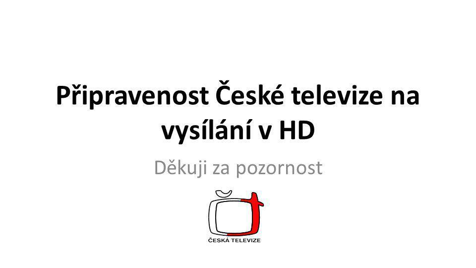 Připravenost České televize na vysílání v HD Děkuji za pozornost