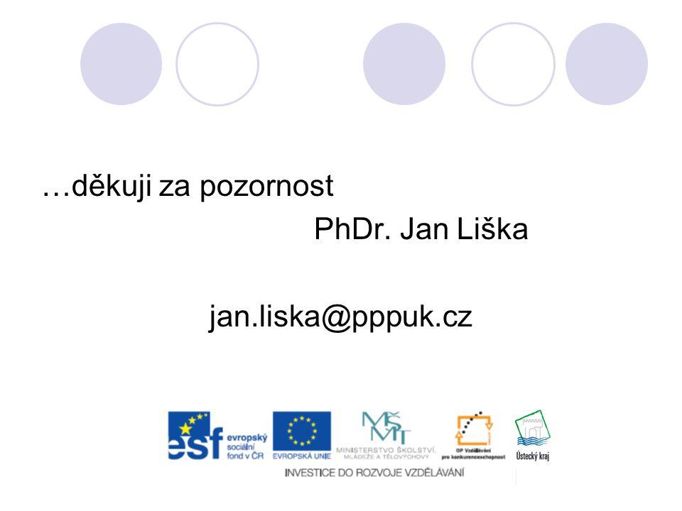 …děkuji za pozornost PhDr. Jan Liška jan.liska@pppuk.cz