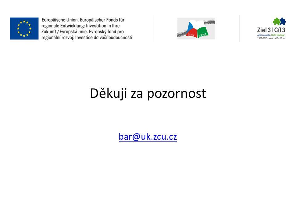 Děkuji za pozornost bar@uk.zcu.cz