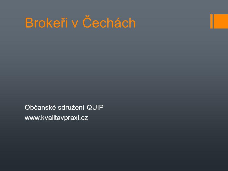 Brokeři v Čechách Občanské sdružení QUIP www.kvalitavpraxi.cz