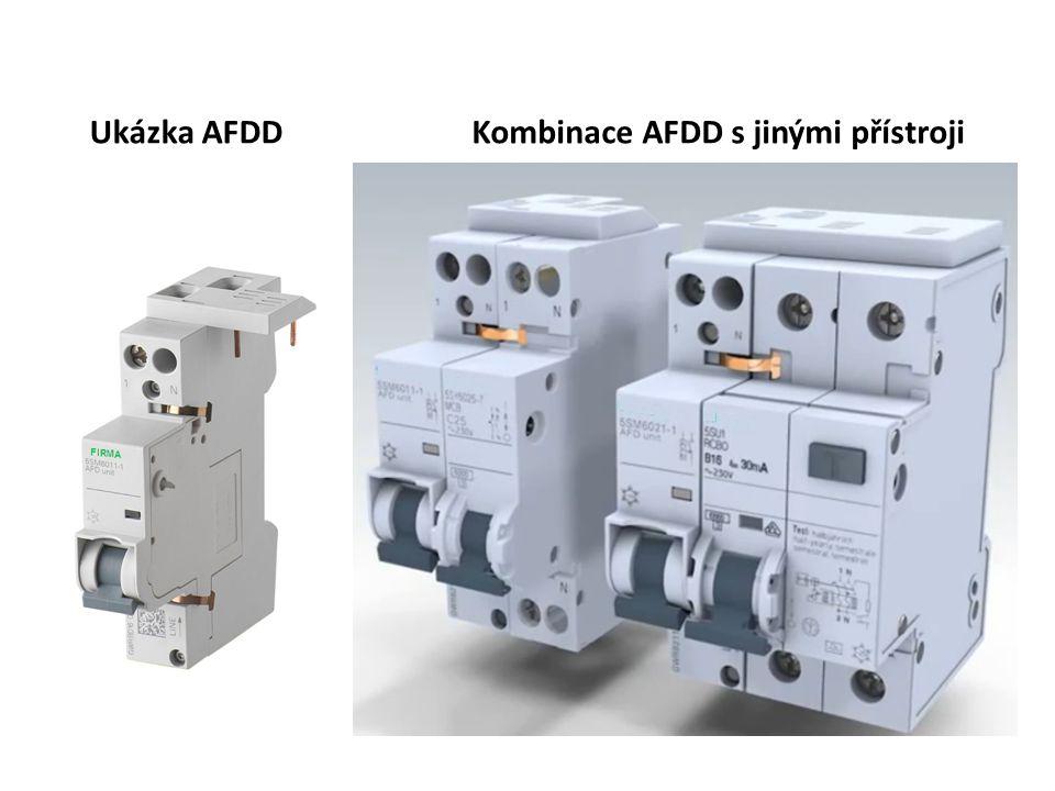 Ukázka AFDDKombinace AFDD s jinými přístroji