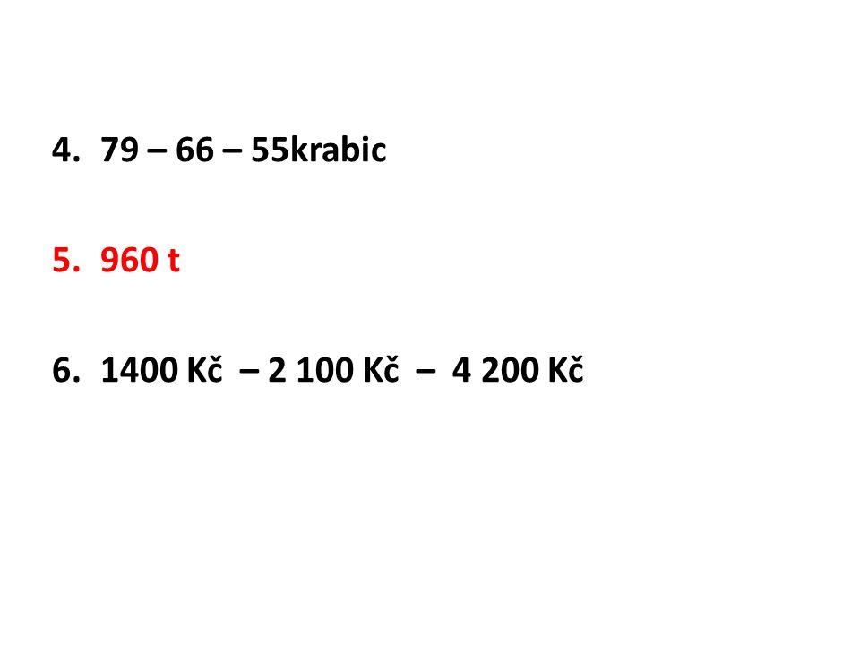 4.79 – 66 – 55krabic 5.960 t 6.1400 Kč – 2 100 Kč – 4 200 Kč