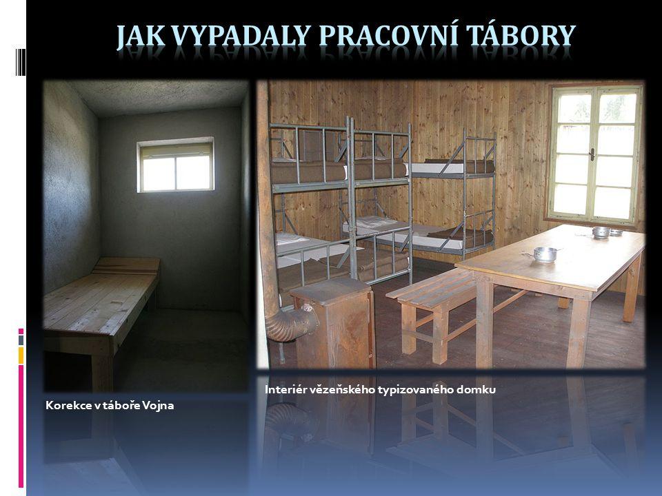 Korekce v táboře Vojna Interiér vězeňského typizovaného domku