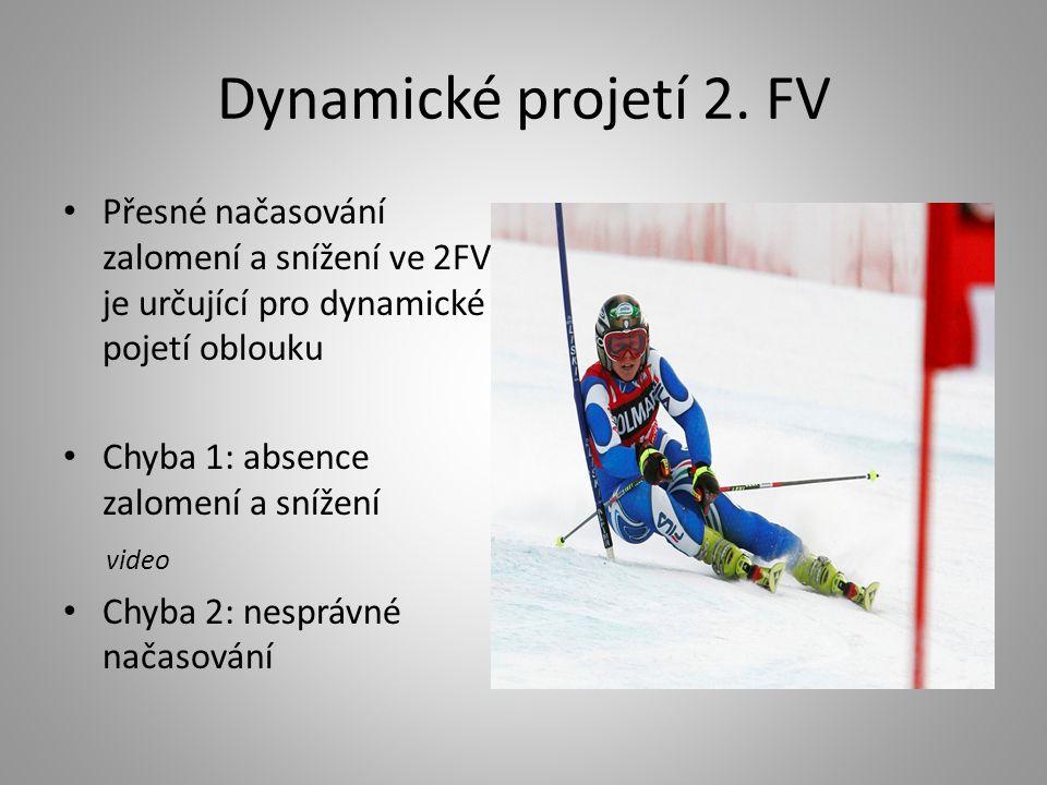 Dynamické projetí 2. FV • Přesné načasování zalomení a snížení ve 2FV je určující pro dynamické pojetí oblouku • Chyba 1: absence zalomení a snížení v