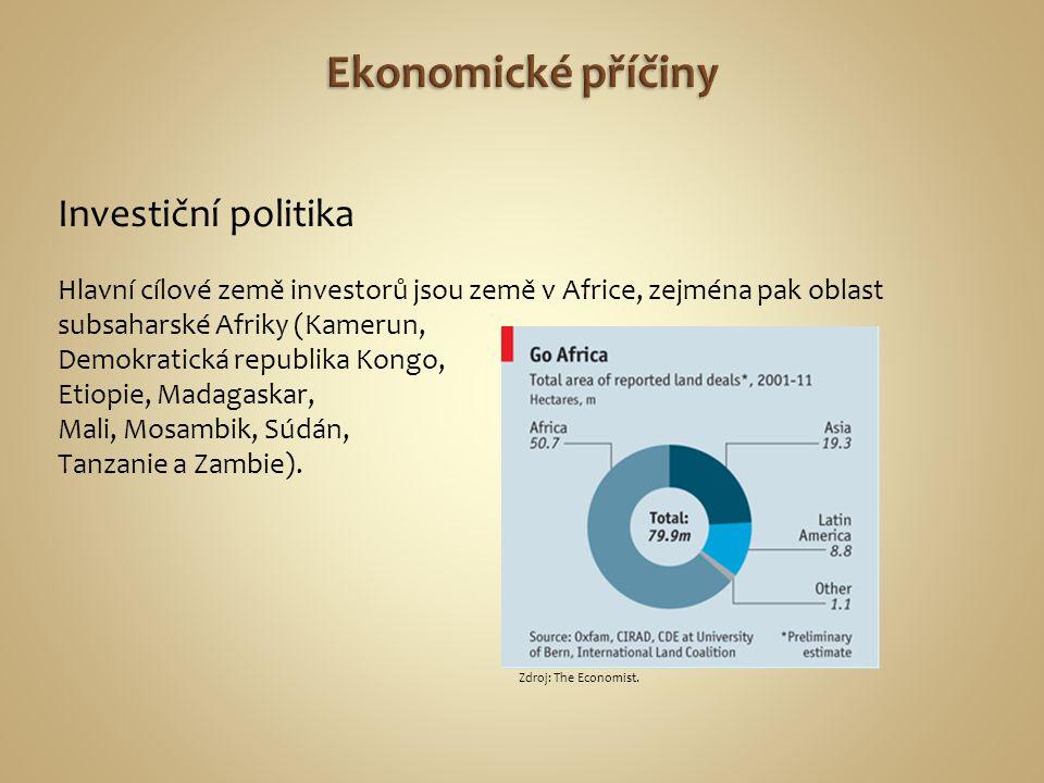Investiční politika Hlavní cílové země investorů jsou země v Africe, zejména pak oblast subsaharské Afriky (Kamerun, Demokratická republika Kongo, Eti