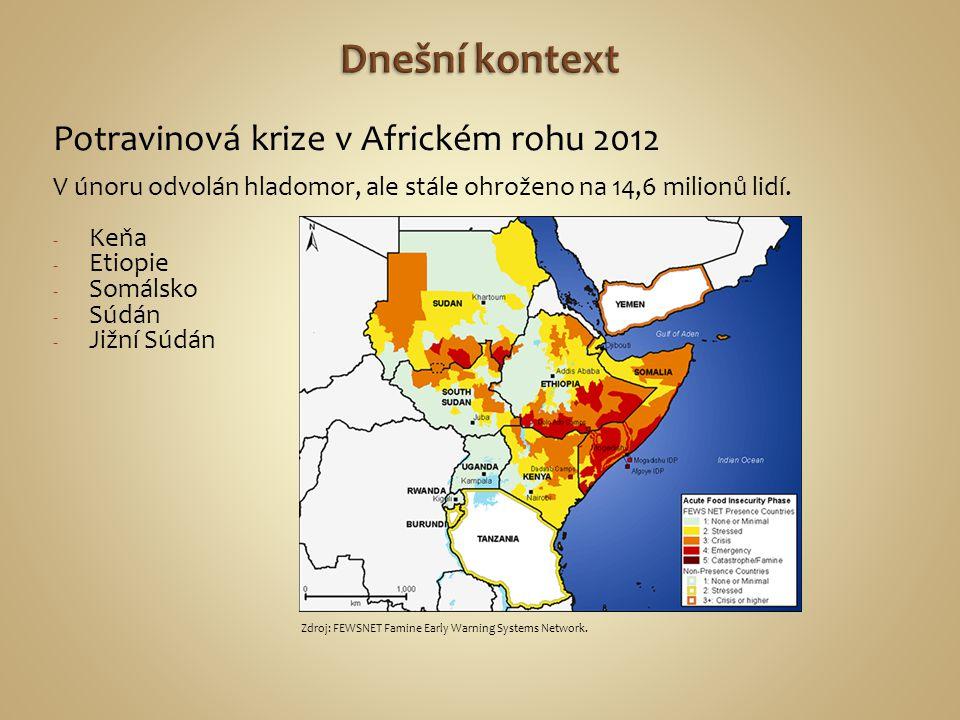 Potravinová krize v Africkém rohu 2012 V únoru odvolán hladomor, ale stále ohroženo na 14,6 milionů lidí. - Keňa - Etiopie - Somálsko - Súdán - Jižní