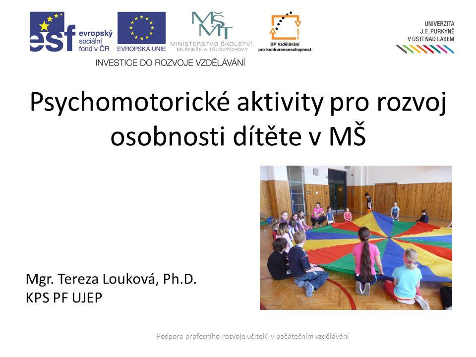 Anotace Cílem kurzu je seznámit účastníky s psychomotorikou coby pohybovou výchovou, jejímž cílem je prožitek z pohybu.