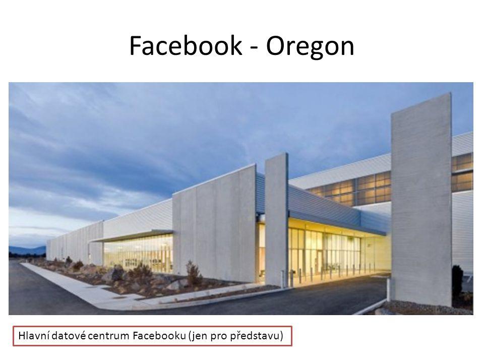 Facebook - Oregon Hlavní datové centrum Facebooku (jen pro představu)