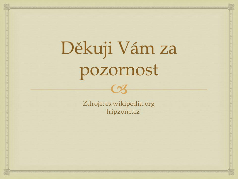  Děkuji Vám za pozornost Zdroje: cs.wikipedia.org tripzone.cz