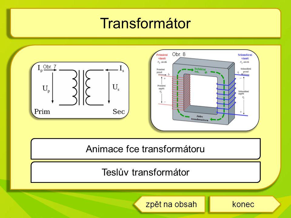 Transformátor koneczpět na obsah Teslův transformátor Animace fce transformátoru Obr. 8 Obr. 7