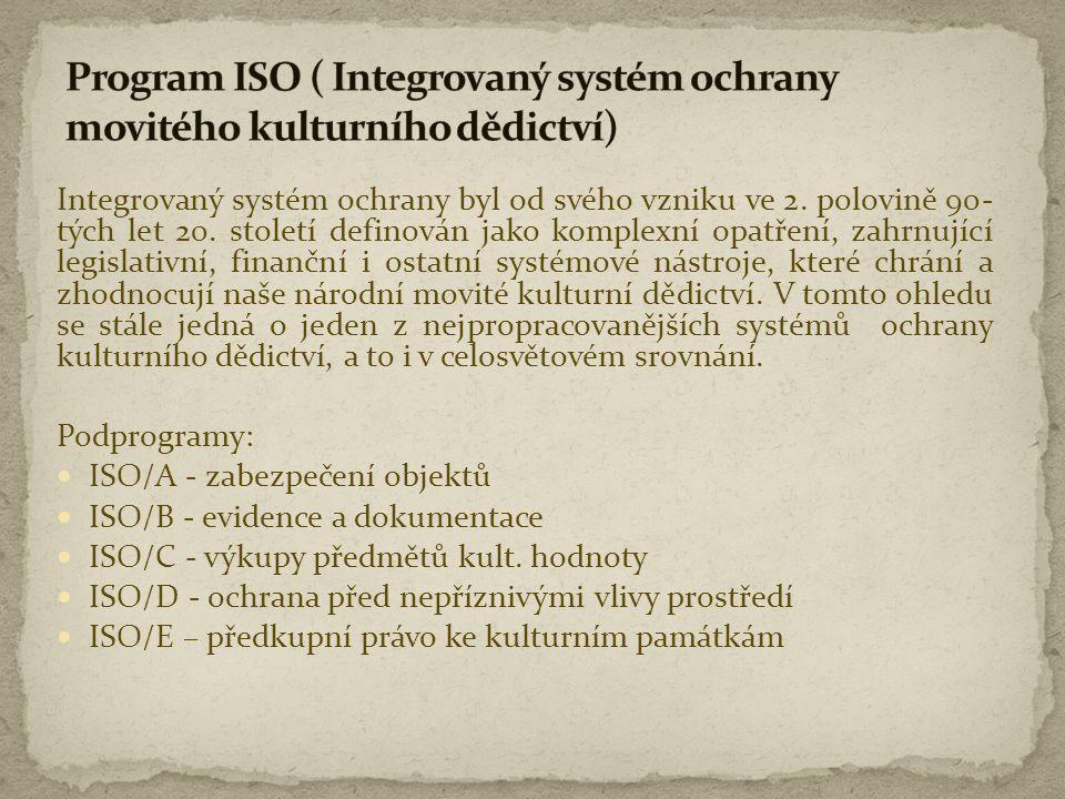 Integrovaný systém ochrany byl od svého vzniku ve 2. polovině 90- tých let 20. století definován jako komplexní opatření, zahrnující legislativní, fin