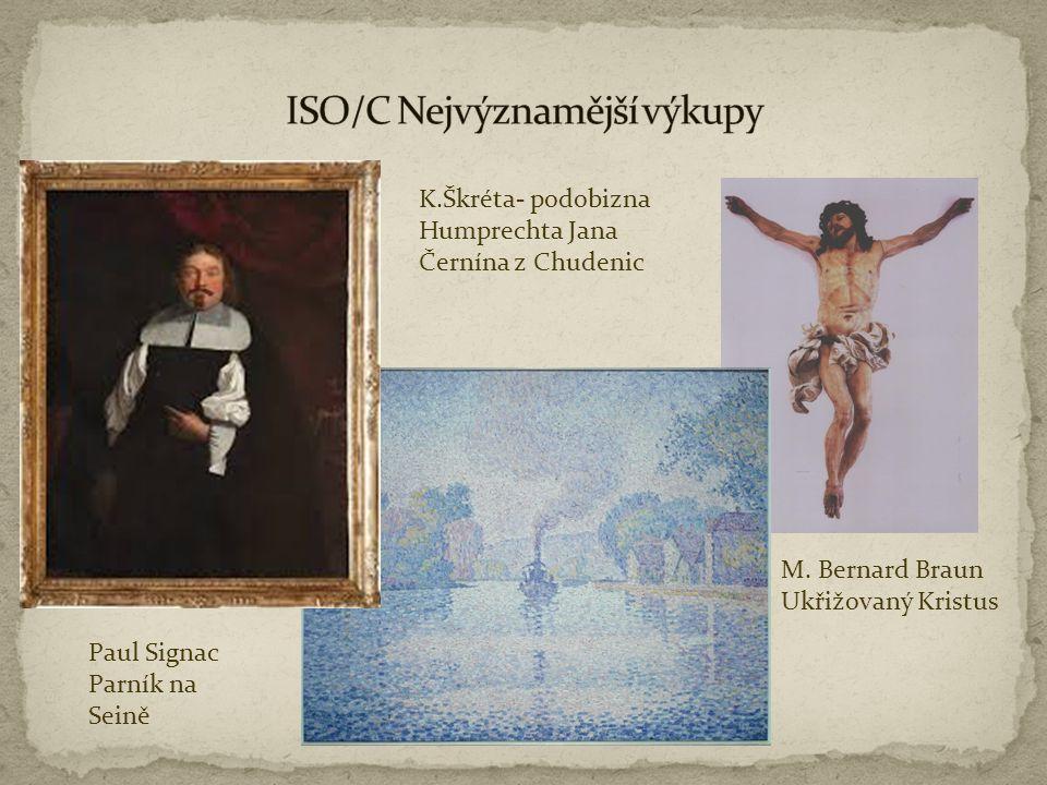 K.Škréta- podobizna Humprechta Jana Černína z Chudenic Paul Signac Parník na Seině M. Bernard Braun Ukřižovaný Kristus