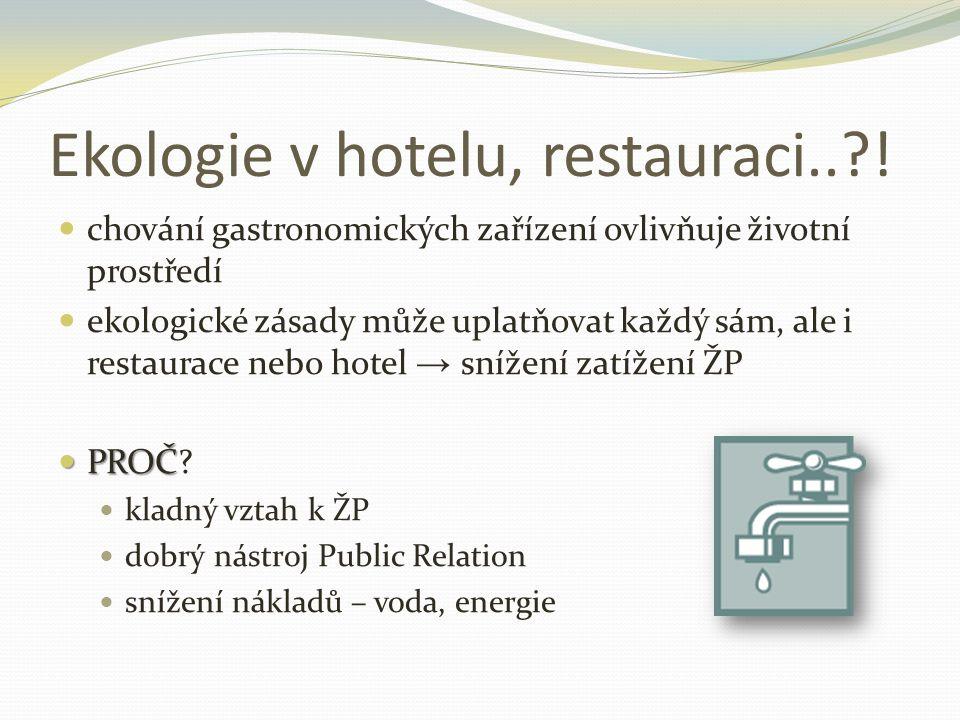 Ekologie v hotelu, restauraci..?.