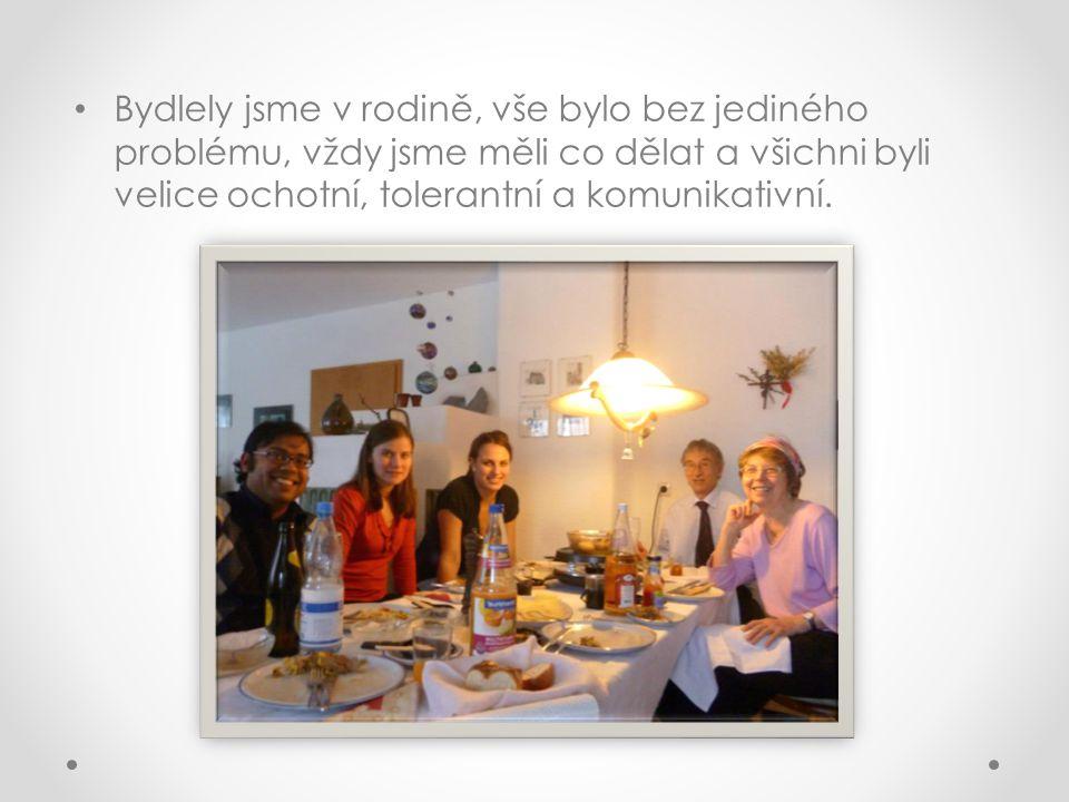 • Bydlely jsme v rodině, vše bylo bez jediného problému, vždy jsme měli co dělat a všichni byli velice ochotní, tolerantní a komunikativní.
