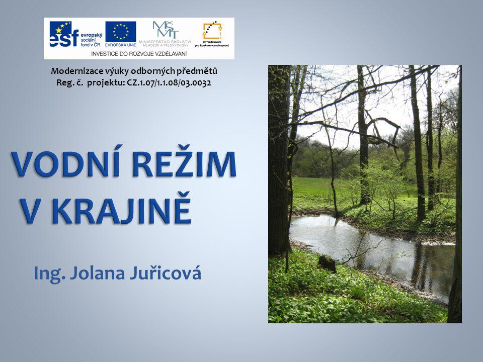 Ing. Jolana Juřicová Modernizace výuky odborných předmětů Reg. č. projektu: CZ.1.07/1.1.08/03.0032