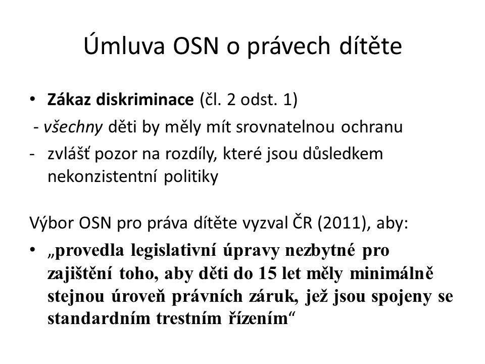 Úmluva OSN o právech dítěte • Zákaz diskriminace (čl.