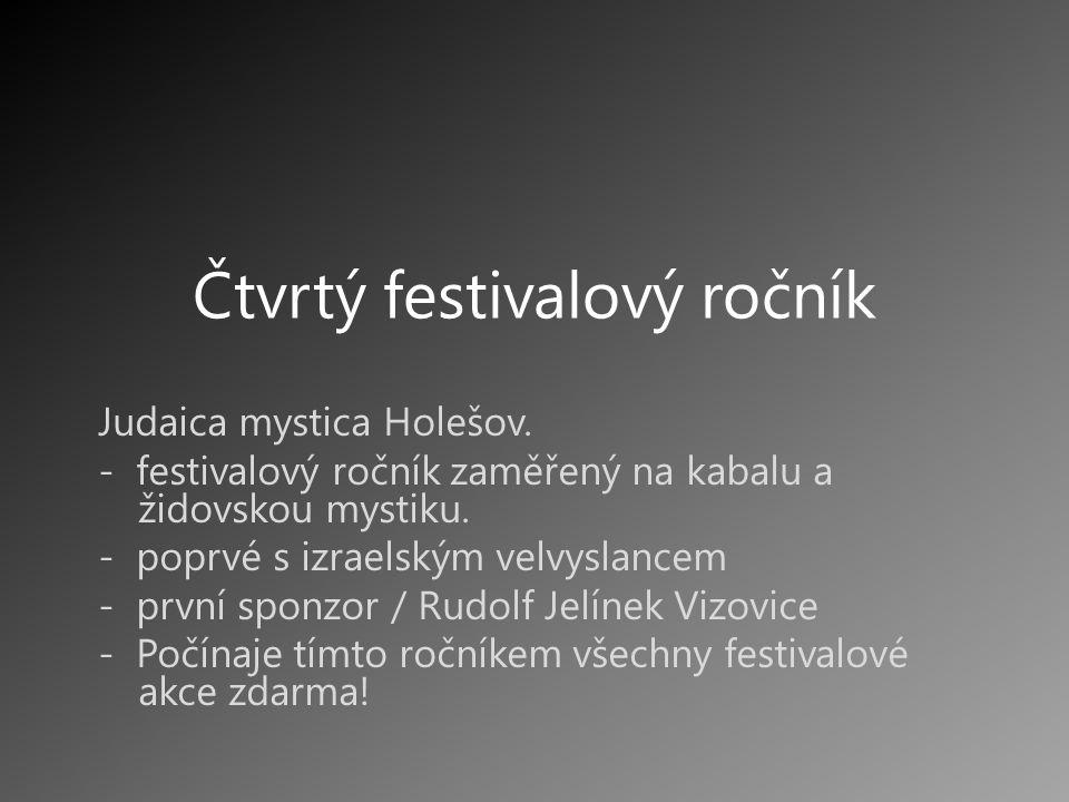 Čtvrtý festivalový ročník Judaica mystica Holešov.