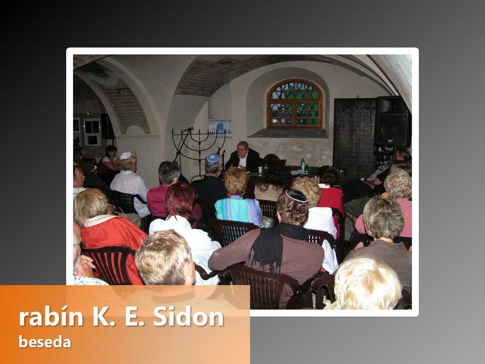 rabín K. E. Sidon beseda