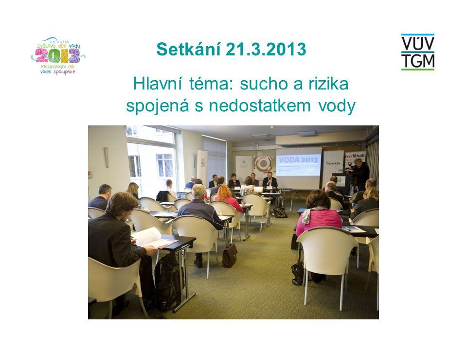 Setkání 21.3.2013 Hlavní téma: sucho a rizika spojená s nedostatkem vody