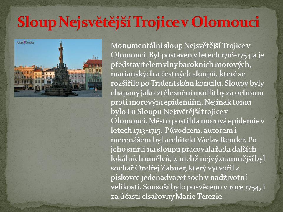 Monumentální sloup Nejsvětější Trojice v Olomouci.