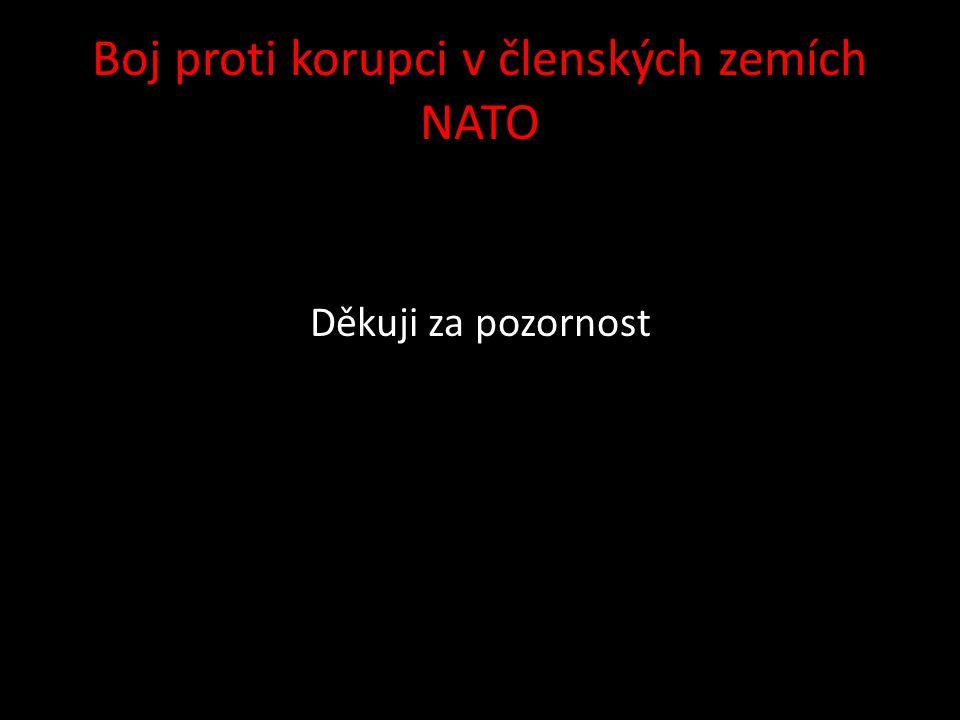 Boj proti korupci v členských zemích NATO Děkuji za pozornost