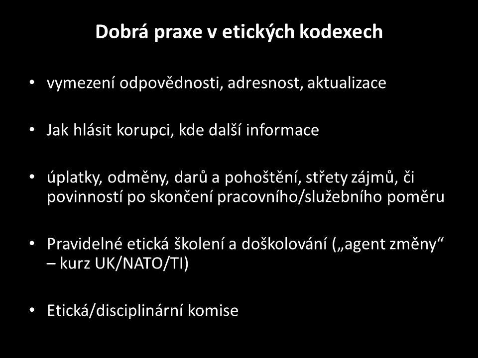 """Protikorupční strategie: Polsko • """"Vládní strategie pro boj s korupcí 2012 – 2016 – ne obrana (kromě VZ); nedostatečné plnění • Obranná strategie Polské republiky; Národní Bezpečnostní strategie Polské republiky (2009) ; """"Vize Polské armády do roku 2030 ; """"Strategie posilování disciplíny, boje proti závislostem a předcházení sociální patologie u polských ozbrojených sil na léta 2010 až 2015 • Polsko, Švýcarsko, Velká Británie - svěřenecký fond • srpen 2011 rozšíření spolupráce s Ústřední protikorupční agenturou"""
