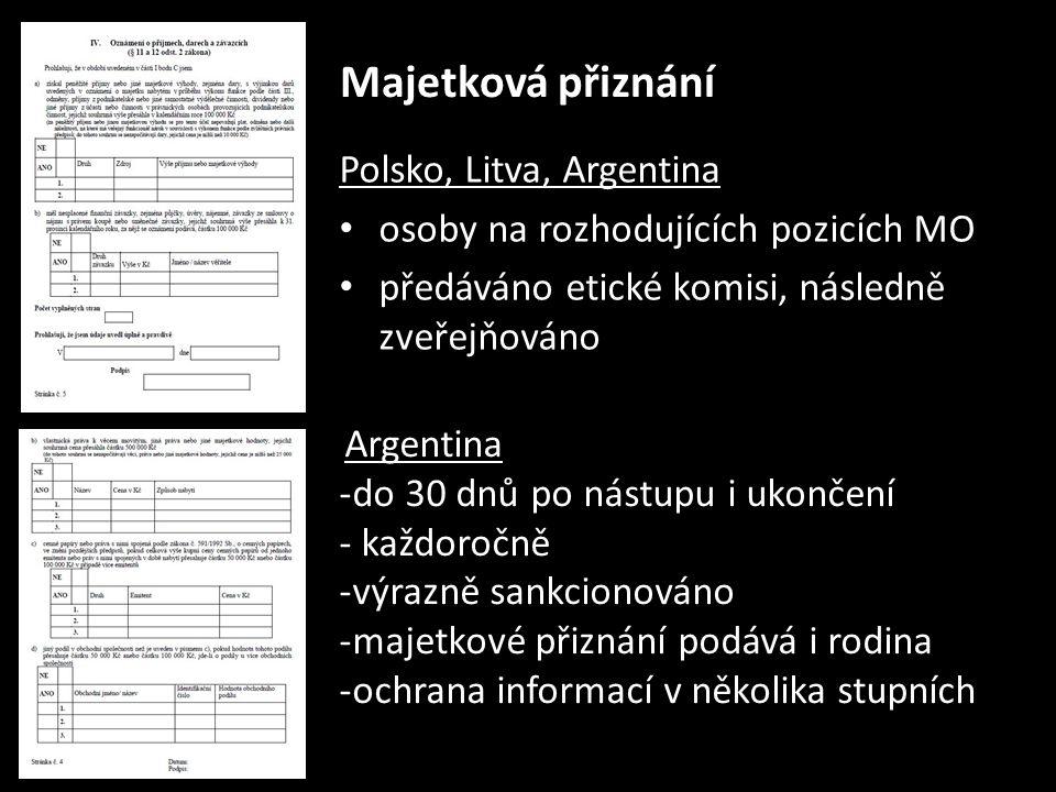 """Ochrana oznamovatelů Austrálie - """"hot-line 24 hod.; intranet; specialista; brožura Argentina - anonymní on-line systém – úřad přímo podřízený ministru Polsko - hot-line, e-mail (10 – 15 oznámení/rok); nedostatečná propagace Velká Británie - ochrana whistleblowerů pouze pro občanské zaměstnance (zákon o státní službě)"""