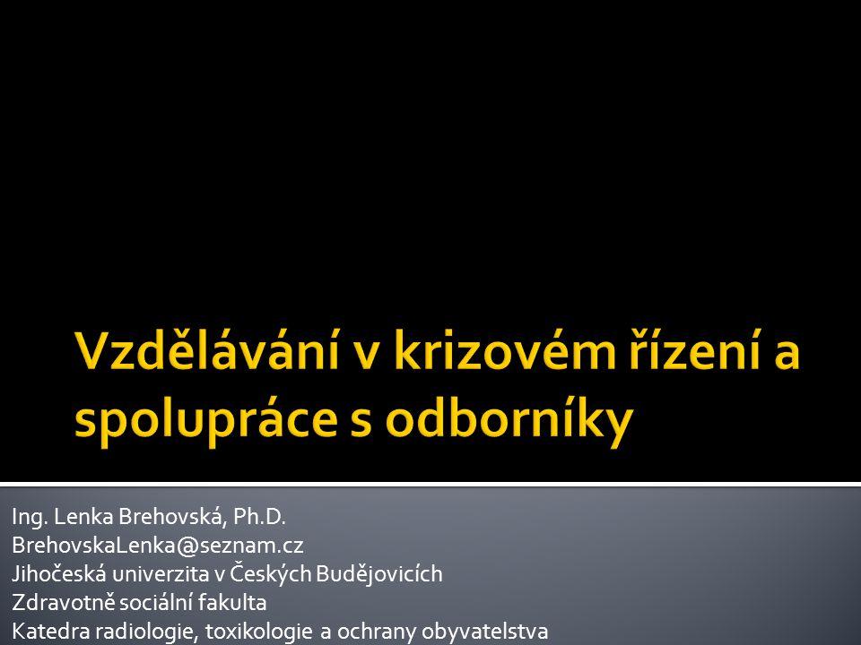  Co je KRIZOVÝ MANAGEMENT:  Souhrn řídících činností věcně příslušných orgánů zaměřených na analýzu a vyhodnocení bezpečnostních rizik, plánování, organizování, realizace a kontrolu činností prováděných v souvislosti s řešením krizových situací 17.10.2013Konference: Vzdělávání vodohospodářů v regionu Dunaj-Vltava2