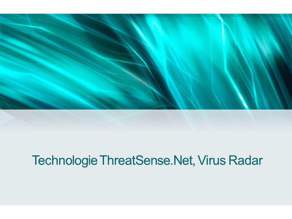 Technologie ThreatSense.Net •Automatický sběr dat o aktuálních a nových hrozbách detekovaných produkty ESET.