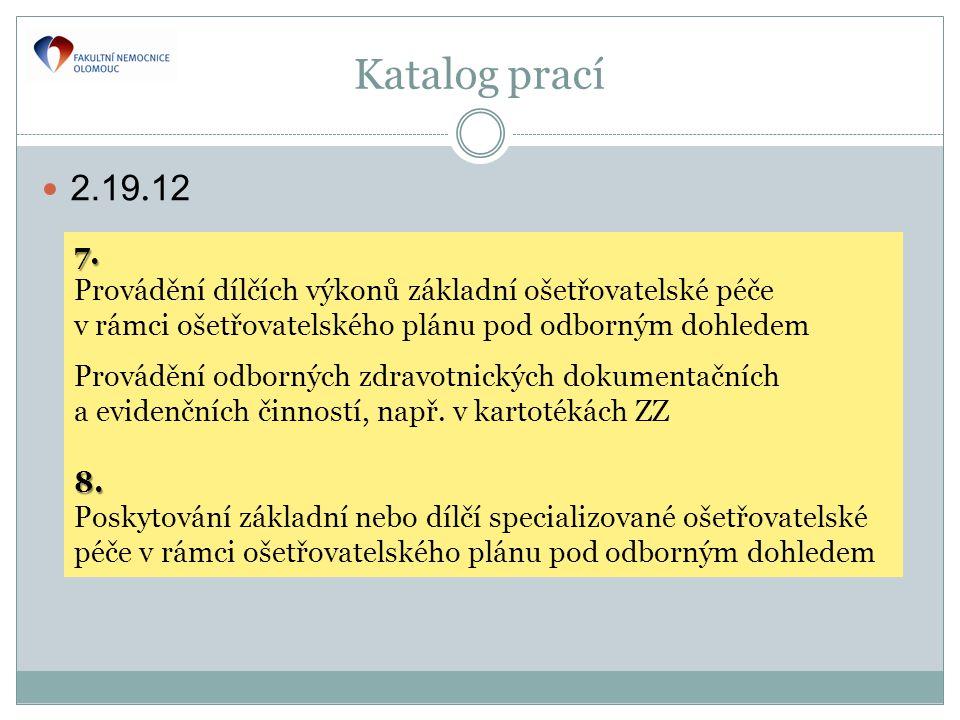 Katalog prací  2.19.12 7.