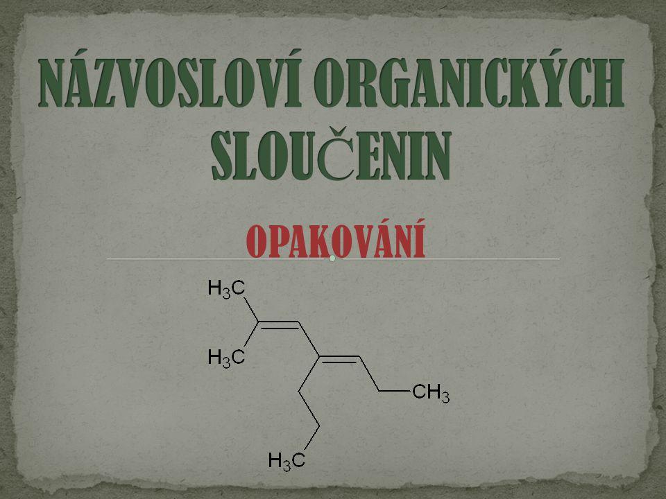  vznikají odtr ž ením 1 atomu uhlíku z molekuly uhlovodíku  mají zakon č ení –YL  obecn ě se zna č í R a nazývají se ALKYLY  p ř.: methyl, ethyl, propyl, butyl