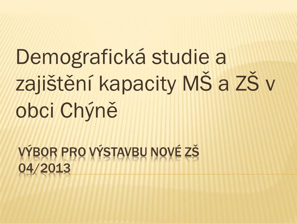 Demografická studie a zajištění kapacity MŠ a ZŠ v obci Chýně