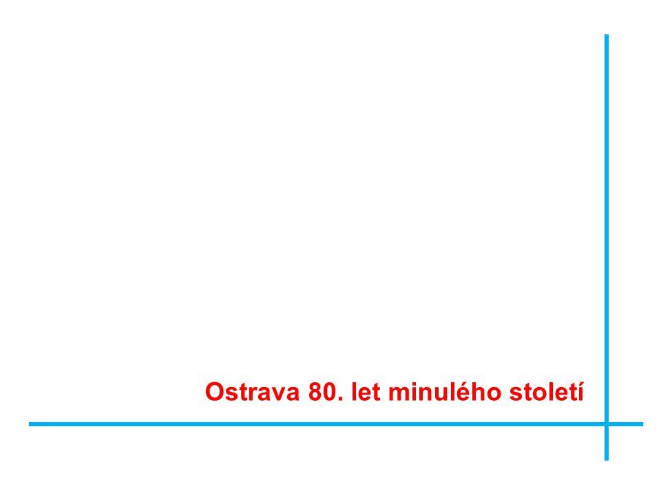 Ostrava 80. let minulého století