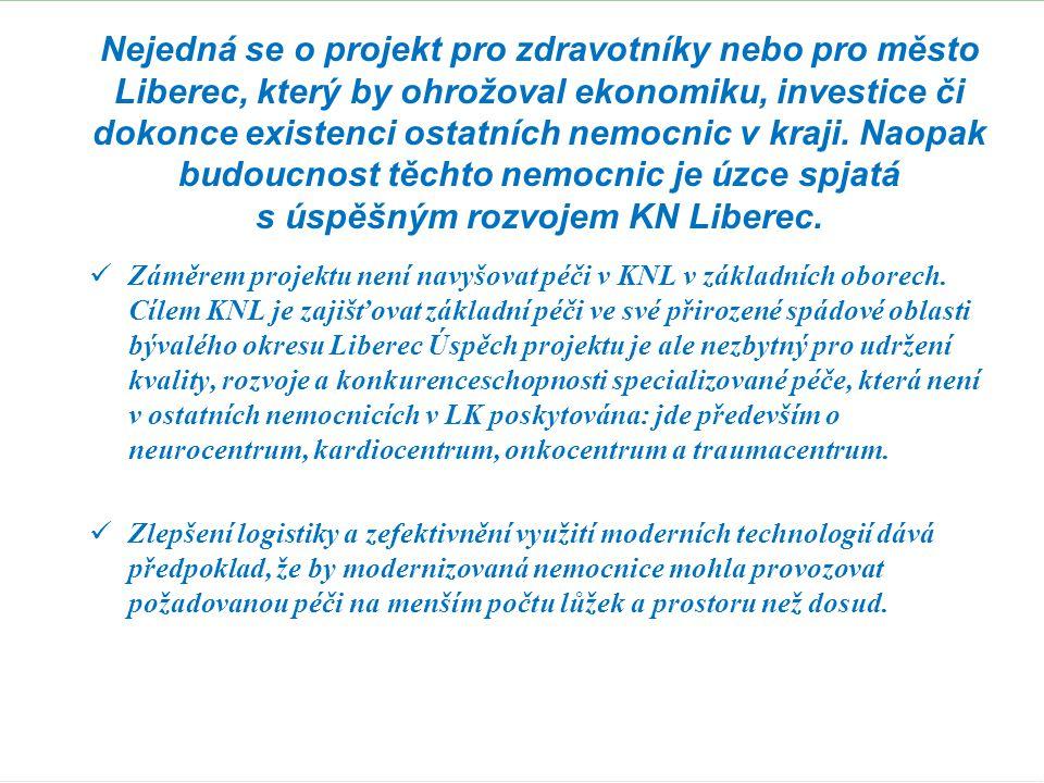 Rozvoj KN Liberec a ostatních nemocnic tvoří harmonický celek.