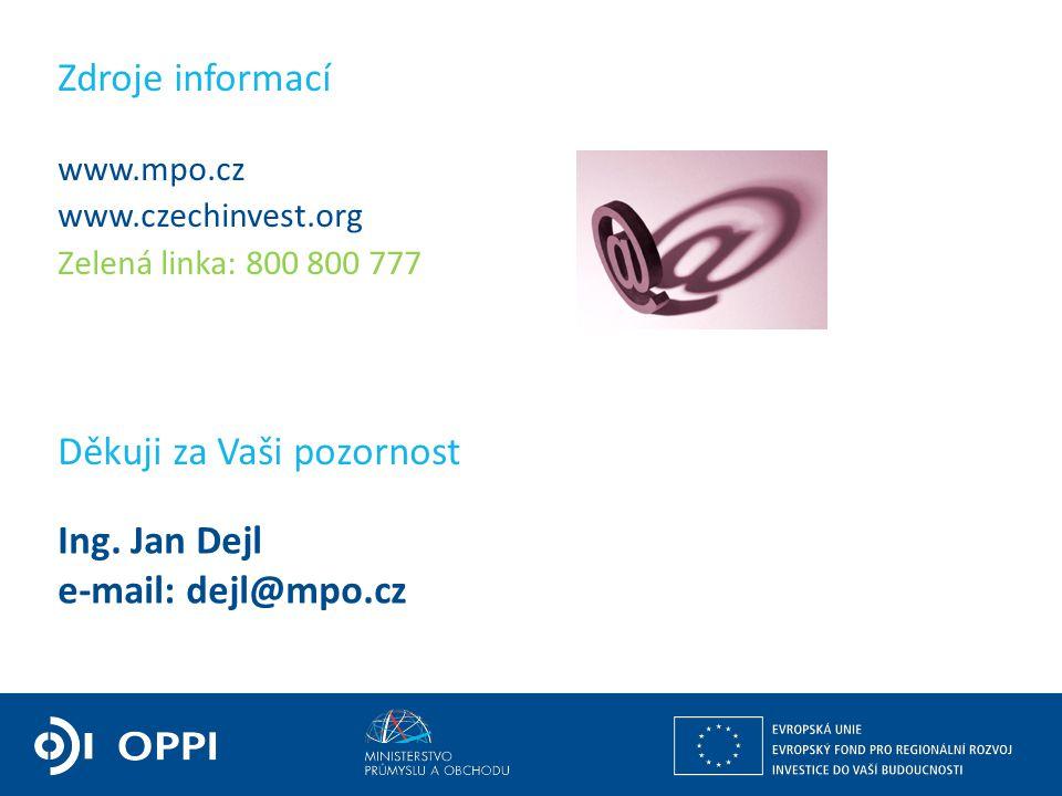 Ing. Martin Kocourek ministr průmyslu a obchodu ZPĚT NA VRCHOL – INSTITUCE, INOVACE A INFRASTRUKTURA www.mpo.cz www.czechinvest.org Zelená linka: 800