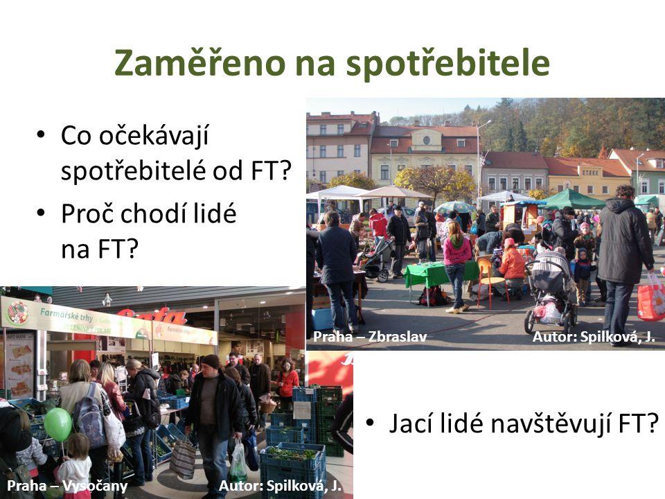 Základní fakta o FT v Praze • 39 trhů v Praze (v době provádění výzkumu zhruba polovina) • převažují menší (19) a střední FT (16) • polovina FT se koná v sobotu • větší FT spíš v centru a vnitřním městě, menší FT ve vnějším městě a zázemí • vnitřní město – víkend, vnější město – všední dny Zdroje: www.bioinfo.cz; www.vitalia.cz; www.nalok.cz