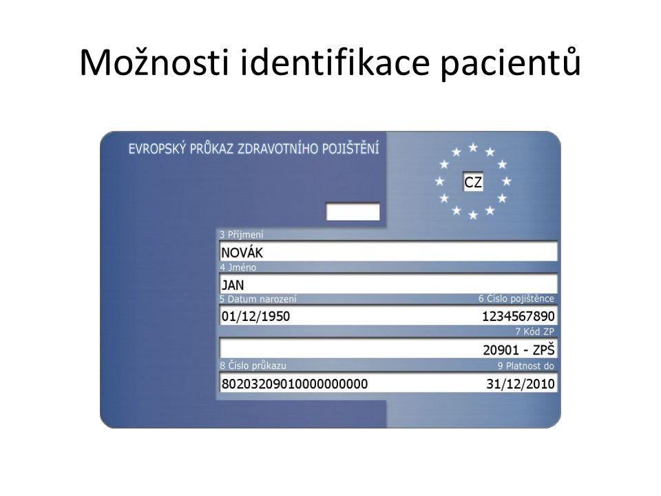 Možnosti identifikace pacientů