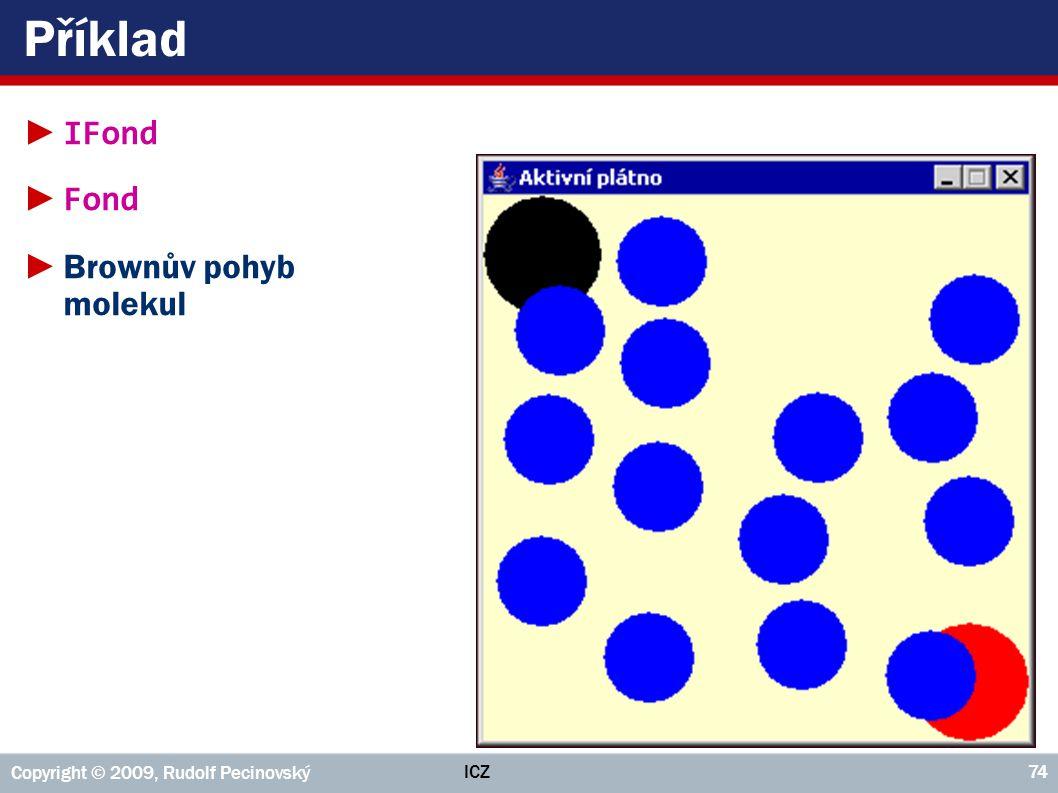 ICZ Copyright © 2009, Rudolf Pecinovský 74 Příklad ► IFond ► Fond ►Brownův pohyb molekul