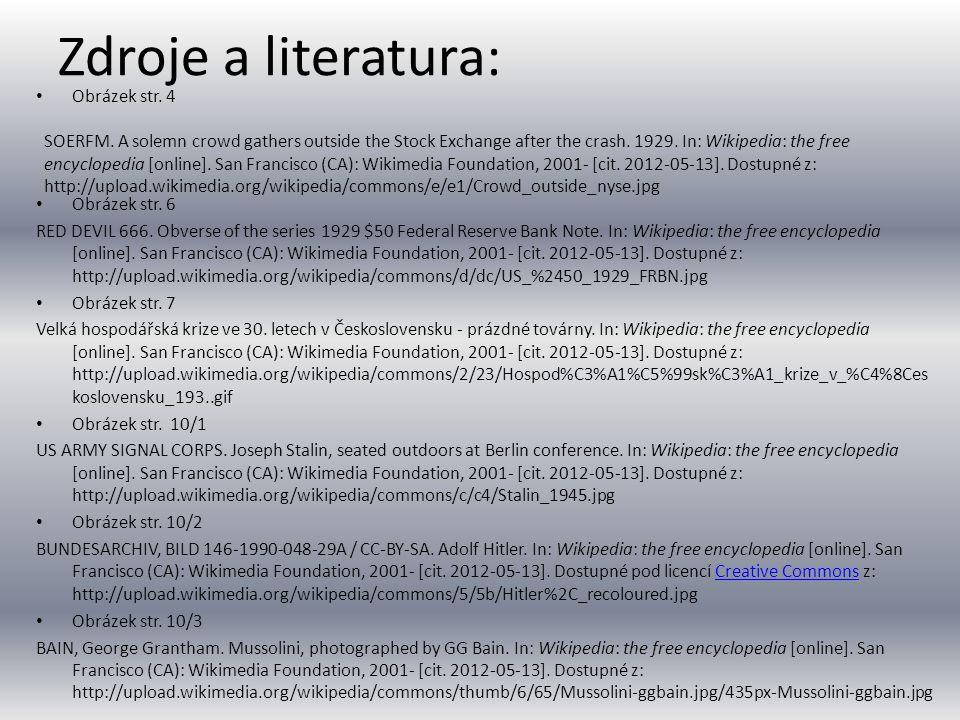 Zdroje a literatura: • Obrázek str.4 • Obrázek str.
