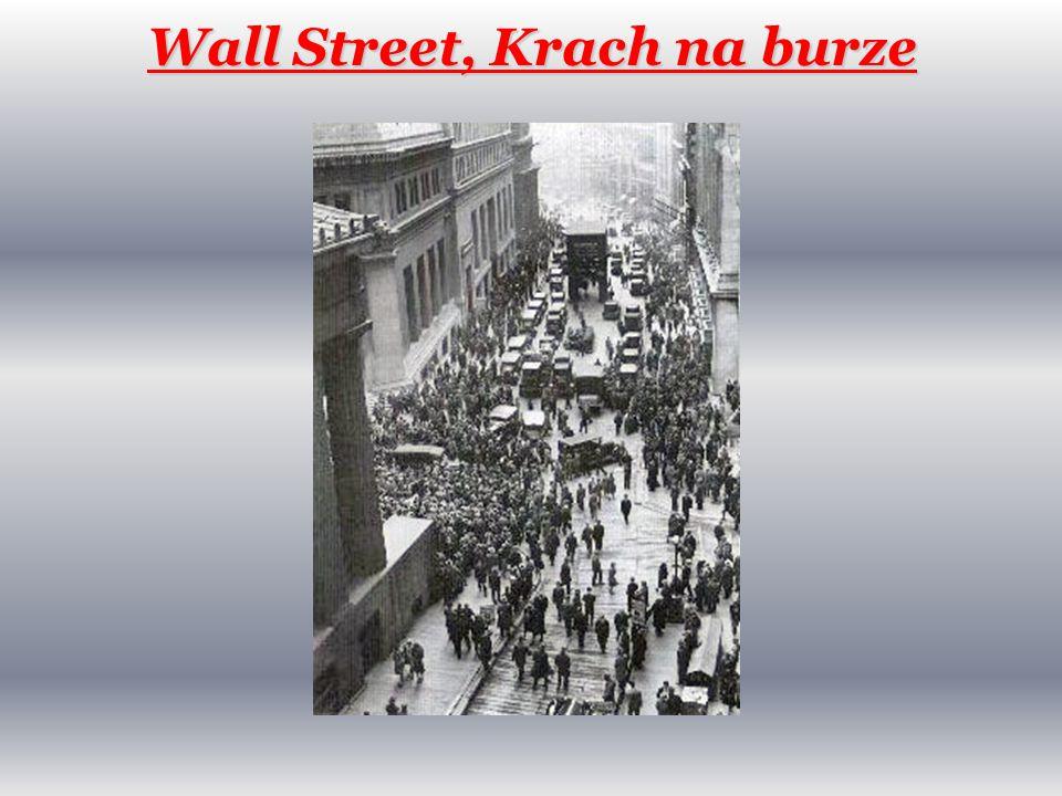 Wall Street, Krach na burze
