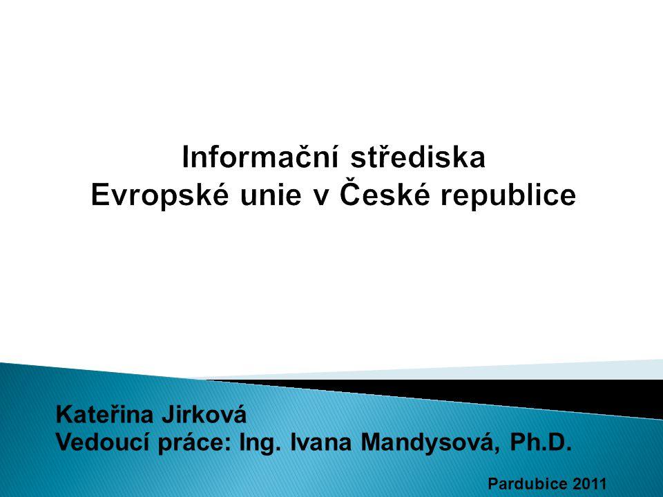 Kateřina Jirková Vedoucí práce: Ing. Ivana Mandysová, Ph.D. Pardubice 2011
