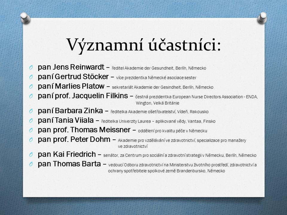 Program sympozia: O Potřebuje vůbec management v ošetřovatelství soulad v rámci Evropy.