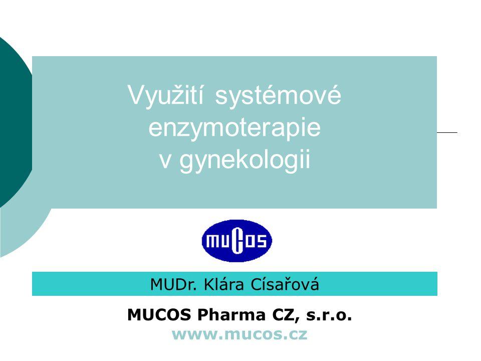 Využití systémové enzymoterapie v gynekologii MUDr.