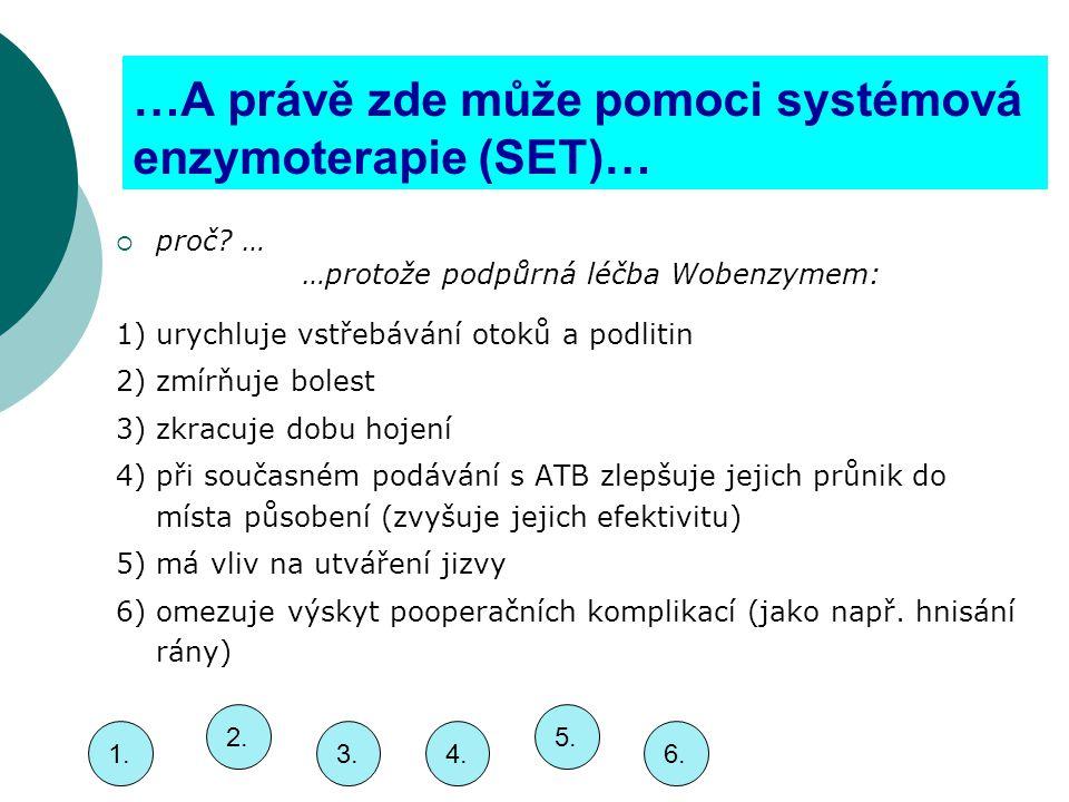 …A právě zde může pomoci systémová enzymoterapie (SET)…  proč.