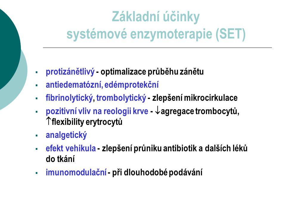 Jaká je snášenlivost systémové enzymoterapie.
