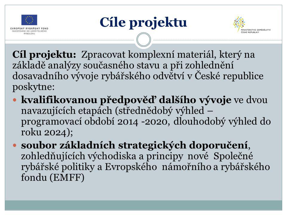 Základní výstupy  Popis a analýza současného stavu v odvětví akvakultury,  Trendy vývoje odvětví v období 2014 – 2020 a analýza klíčových potřeb/problémů v odvětví akvakultury,  Prognóza vývoje odvětví akvakultury do roku 2024,  Cíle a priority ČR v akvakultuře Výsledek: Víceletý národní strategický plán pro akvakulturu na léta 2014 - 2024